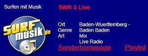 Surfmusik, SWR 3, kostenlos Radio hören am PC, iPad, Handy, TVüberregional