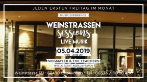 Weinstrassen Sessions in der Lounge im Weinkontor Edenkoben am 05. April 2019 - Special Guest: AQuilla Fearon