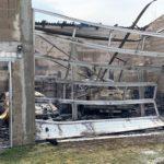 Lagerhallenbrand in Langenbrücken