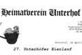 27. Unterhöfer Eierlauf, 22.04.19, 15 Uhr,im alten Ortskern in Unterhof