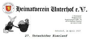 Eierlauf, Heimatverein Unterhof, Kraichgau, Veranstaltung an Ostern