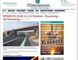 A6 Balzfeld, Sinsheim, Kraichgau, Um 1,25 Meter abgesenkt auf die Widerlager wird die neue Brücke über die Autobahn A6 bei Balzfeld. Das geschieht mit großen Hydraulikstempeln. TVüberregional
