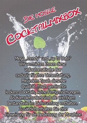 CocktailMixBox, Ob Sie uns für einen Tag, für mehrere Tage, übers Wochenende oder für mehrere Wochen buchen wollen, fragen Sie nach. MOBILE COCKTAILBAR mit TEAM für Ihr Event mieten – Jetzt uns anrufen Telefon 0176-95324075 Das Team und die Cocktailbar für Ihr Event mieten www.cocktailmixbox.de Cocktail Mix Box Bar – Mobil mit und ohne Personal mieten www.facebook.com/CocktailmixboxVermietung Sternweilerstr. 84, 69242 Tairnbach