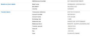 SWISSCORP AG  i.G. Auszahlungen, Auszahlungsbeweise, Mining, Crypto, Bitcoins,