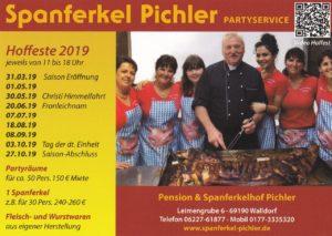 Spanferkel Pichler Partyservice, Termine für Hoffest-Saison
