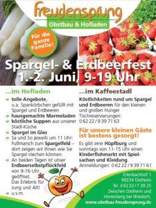 Spargel- und Erdbeerfest am 1. und 2. Juni ab 9 bis 19 Uhr