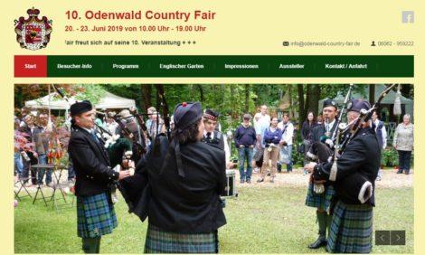 10. Odenwald Country Fair, 20. – 23. Juni 2019 von 10.00 Uhr – 19.00 Uhr
