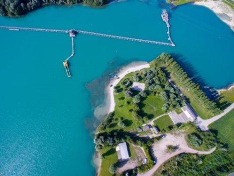 Baggersee Huttenheim gesperrt, Lebensgefahr