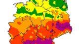 VERBREITET die höchste Waldbrandgefahr