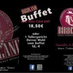 Buffet im Birdland, Discothek in Kronau. Donnerstag + Freitag