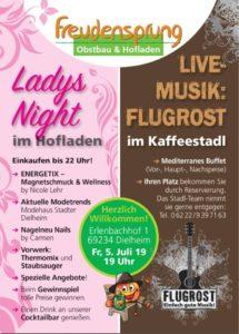 Dielheim, Freudensprung, Ladys Night mit Live-Musik von Flugrost am 05.07.19