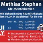 KFZ Meisterbetrieb Mathias Stephan sucht ein Haus in Waghäusel