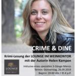 Vorankündigung Lesungen Lounge im Weinkontor September