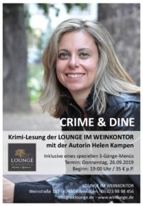 Karlsruher Krimiautorin Helen Kampen in der Lounge im Weinkontor Edenkoben