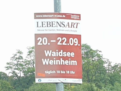 LebensArt Weinheim – mit Relax2000 Wohn- und Schlafberatung, Plakat