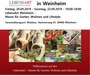 LebensArt Weinheim - Messe für Garten, Wohnen und Lifestyle
