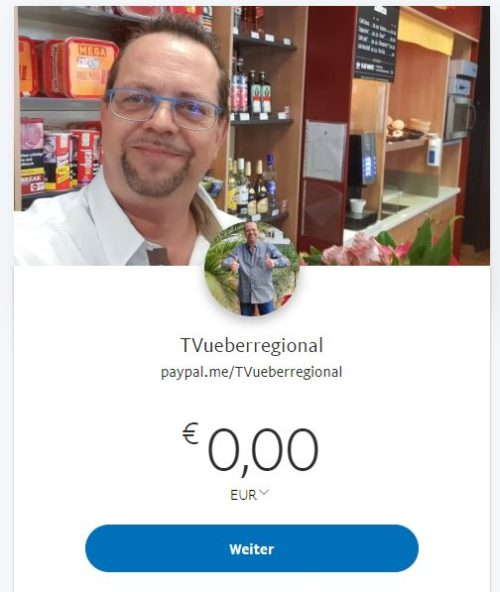 PayPal_TVueberregional, Oliver_Doell, PayPalKonto, Bezahlung_PayPal,