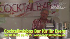Cocktailmixbox, mobile Cocktailbar mieten, Cocktailservice, Eventhighlight,
