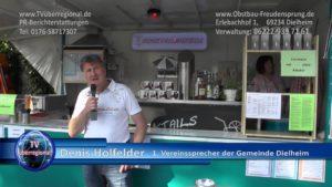 Denis Holfelder, 1. Vereinssprecher der Gemeinde Dielheim bei Freudensprung Jubiläum