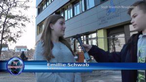 Emillie Schwab Innovation Gewinnerin, Fabian Kolb, Moderator-Praktikant bei TVüberregional