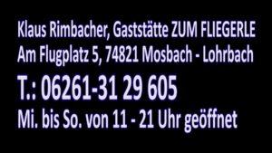 Veranstaltung Ankündigung Mosbach, Odenwald, LIVE Band Toni und Jones, Veranstaltung in Mosbach - Lohrbach, Gaststätte Zum Fliegerle, am 26.10.19 , Am Flugplatz 5, 74821 Mosbach