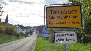 Tairnbach, Mühlhausen - Tairnbach, Kraichgau, tvueberregional, Oliver Doell, 500 Pixel, Ortsschild,
