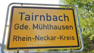 Tairnbach, Mühlhausen - Tairnbach, Kraichgau (1) tvueberregional, Oliver Doell, 500 Pixel, Ortsschild,