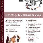 Tom Tatze Tierheim Walldorf: ADVENTSFEIER, 01.12.19, Tierweihnacht, Kreativmarkt, Kunstausstellung, Moderator Fabian Kolb wird bei TVüberregional berichten. DVD´s werden dem Tom Tatze Tierheim gespendet.
