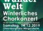 Winter Wunder Welt, winterliches Chorkdnzert mit den Chören des MGV Konkordia und Musikern  Samstag, 14.12.2019 Ohrenberghalle Mingolsheim