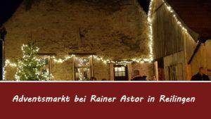 Adventsmarkt in Reilingen bei Rainer Astor, Fabian Kolb berichtet
