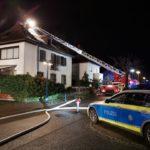 Dachstuhlbrand – 150 000,- Euro Sachschaden