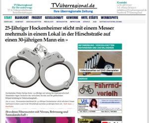 25-Jähriger Hockenheimer sticht mit einem Messer mehrmals in einem Lokal in der Hirschstraße auf einen 30-jährigen Mann ein