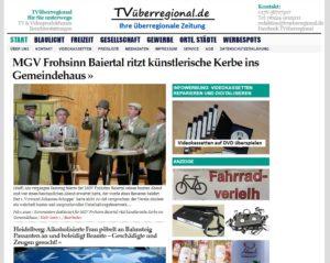 MGV Frohsinn Baiertal ritzt künstlerische Kerbe ins Gemeindehaus, TVüberregional