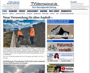 Neue Verwendung für alten Asphalt, TVueberregional, A6, Wiesloch, Sinsheim, ViA6West GmbH , Co KG