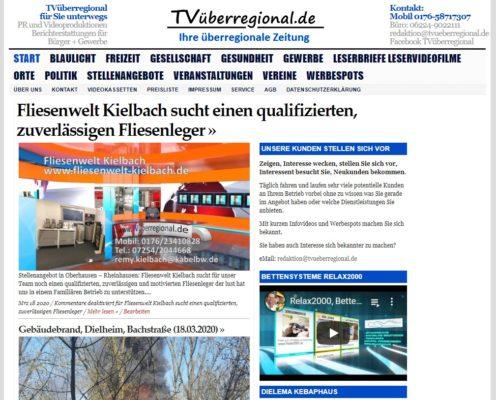 Fliesenwelt Kielbach sucht einen qualifizierten, zuverlässigen Fliesenleger, tvüberregional, waghäusel, oberhausen rheinhausen