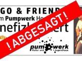 Wegen Corona Virus: Hugo & Friends, Benefizkonzert für Ciara im Pumpwerk Hockenheim abgesagt