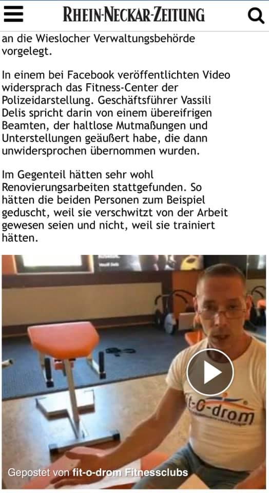 Rhein-Neckar-Zeitung, Fit-o-Drom, Vassili Delis