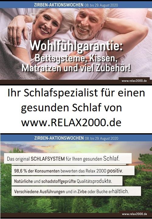 Ihr Schlafspezialist für einen gesunden Schlaf von www relax2000 de