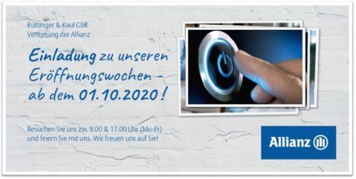 EINLADUNG zur Eröffnungsfeier. Allianz Rüttinger & Kaul GbR. Altlußheim