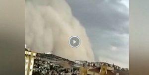 Gewaltiger Sandsturm wütet in Ankara, Türkei