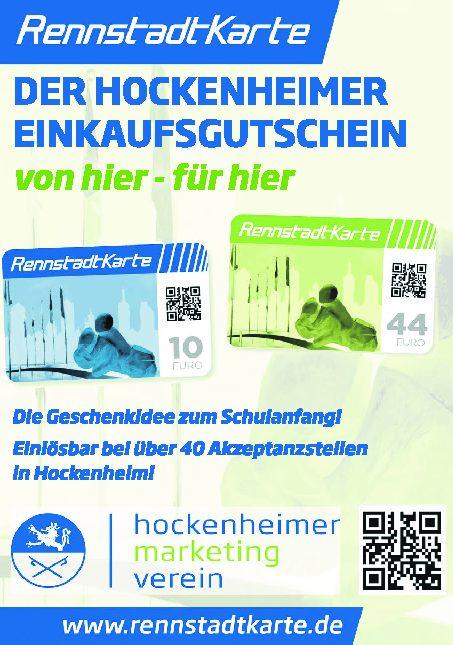 Die Hockenheimer Rennstadtkarte von hier – für hier hat sich etabliert!
