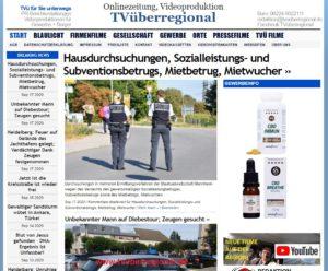 Hausdurchsuchungen, Sozialleistungs- und Subventionsbetrugs, Mietbetrug, Mietwucher, TVüberregional, Onlinezeitung