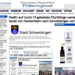 Positiv auf Covid-19 getestete Flüchtlinge werden heute von Hockenheim nach Schwetzingen verlegt