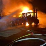 Philippsburg – Vier Baufahrzeuge auf Firmengelände ausgebrannt
