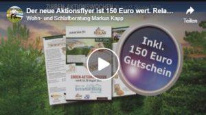 Relax2000, Aktionsflyer 150 Euro sparen, Oktober 2020, Ihr Markus Kapp