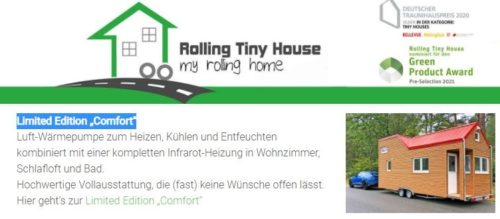 Tiny Houses, Limited Edition Comfort, Rolling Tiny House, Carmen Döll, Rhein-Neckar-Kreis