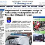 Notgemeinschaft Schwetzingen: Anträge für Weihnachtszuwendung können ab dem 16. November 2020 gestellt werden