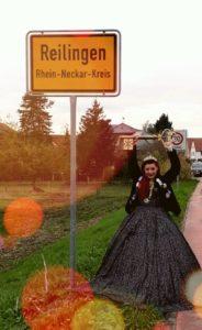 Reilingen, Bereits zum zweiten Mal hält sie den Rathausschlüssel in der Hand (Foto: Hafner)