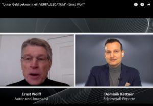 Unser Geld bekommt ein VERFALLSDATUM, Ernst Wolff, Videobericht, auch auf TVueberregional, mit Dominik Kettner