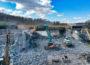 Autobahnbrücke regelrecht zerbröselt